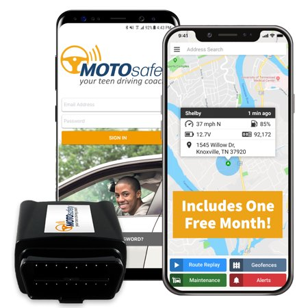 MOTOsafety GPS Car Tracking Locator for Real-Time Teen ...