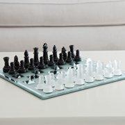 Black and White Mirror Board Chess Set
