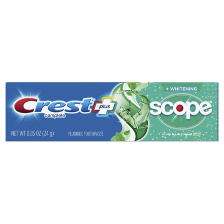 Crest + Scope Complete Whitening Toothpaste, Minty Fresh, .85 oz