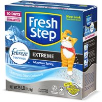 Fresh Step Extreme Scented Litter with the Power of Febreze, Clumping Cat Litter - Mountain Spring, 25 lbs
