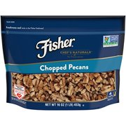 Fisher Chopped Pecans, No Preservatives, Non-GMO, Heart Healthy, 16 oz