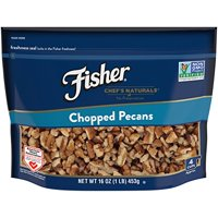 Fisher Chopped Pecans, No Preservatives, Non-GMO, Heart Healthy,16 oz