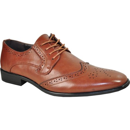 - BRAVO/KING-2 Dress Shoe Classic Oxford Leather Lining Brown Matte