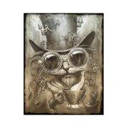 7b1dac396 Steampunk Cat Hipster Animal Art Print Wall Art By Jeff Haynie
