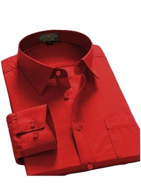 Men's Regular Fit Long Sleeve Button Down Dress Shirt