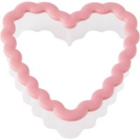 (4 Pack) Wilton Scalloped Heart Grippy Plastic Cookie Cutter