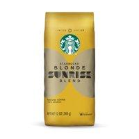 Starbucks Blonde Sunrise Blend Ground Coffee, 12 Ounce Bag