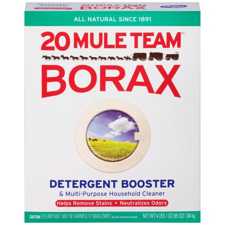 - (2 pack) 20 Mule Team Borax Detergent Booster & Multi-Purpose Household Cleaner, 65 Oz Box