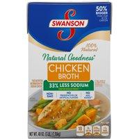 (3 Cartons) SwansonNatural Goodness Chicken Broth, 48 oz