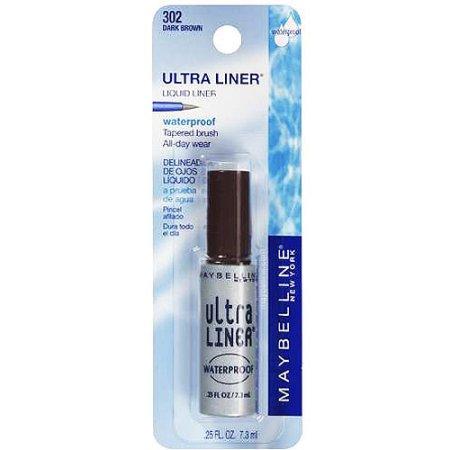 Maybelline Ultra Liner Waterproof Liquid Eyeliner, Dark Brown, 0.25 fl. oz.