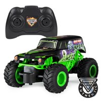Monster Jam, Official Grave Digger Remote Control Monster Truck, 1:24 Scale, 2.4 GHz, for Ages 4 and Up
