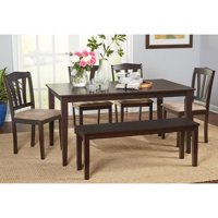 Metropolitan 6-Piece Dining Set with Bench, Espresso, Box 1 of 2