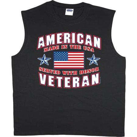 American Veteran t-shirt sleeveless t-shirt muscle tee for men - America Muscle