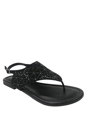 Women Time And Tru Hooded Jewel Sandals