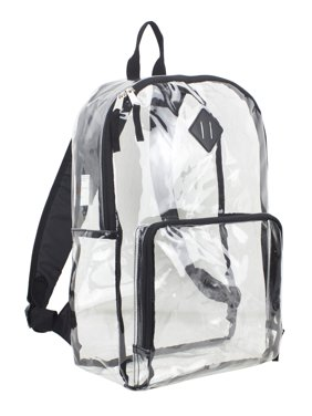 b821a7d7531 Product Image Eastsport Multi-Purpose Clear Backpack with Front Pocket