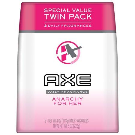 Natural Deodorizing Body Spray (AXE Body Spray for Women, Anarchy, 4 Oz, Twin Pack )