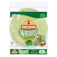 Mission Garden Spinach Herb Wraps, 6 ct