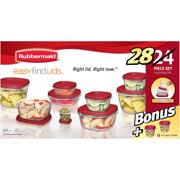 Rubbermaid Food Storage Containers with Easy Find Lids, 24-Piece Bonus Set
