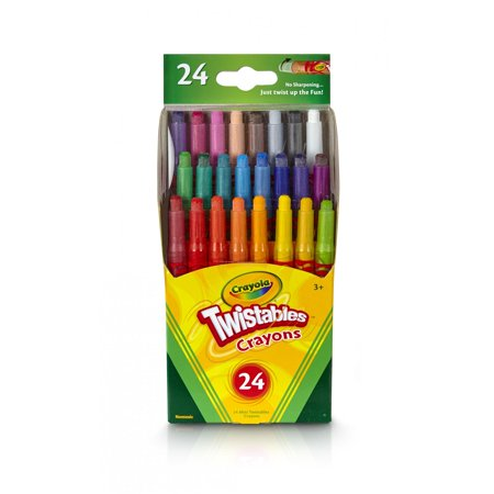 Crayola Twistables Crayon Set, Mini Crayons, Assorted Colors, 24 - Twistables Crayons