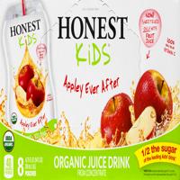 (8 Pack) Honest Kids Organic Juice, Apple, 6.75 Fl Oz, 8 ct
