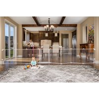 Regalo 192-Inch Super Wide Baby Gate and Play Yard, White