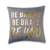 Mainstays Stripe Be Bright Be Brave Be You Throw Pillow