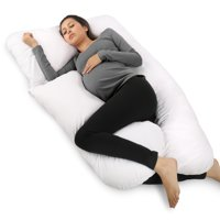 PharMeDoc Full Body Pregnancy Pillow - U Shaped Body Pillow - Maternity Pillow for Pregnant Women w/ Detachable Extension