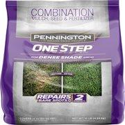 Pennington One Step Grass Seed for Dense Shade, Mulch Plus Fertilzier, 10 Pounds