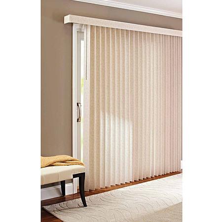 Better Homes & Gardens Vertical Textured S-Slat Privacy Blinds (Aluminum Vertical Blinds)
