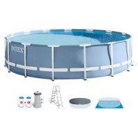 Intex 15 Feet x 42 Inches Prism Frame Above Ground Swimming Pool Set w/ Pump