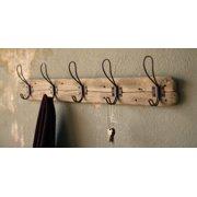 Recycled Wood Wall-Mount Coat Rack