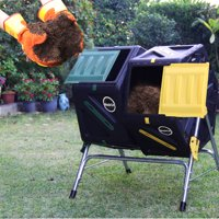 Miracle-Gro Dual Chamber Tumbling Composter, 70L/18.5 Gals Per Chamber