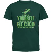 Always Be Yourself Gecko Forest Green Adult T-Shirt