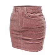 2249aec5ae FashionOutfit Women's Solid Corduroy High-Rise Pencil Mini Skirt