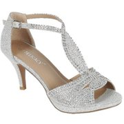 527eba388a1 Excited-94 Women Party Evening Dress Bridal Wedding Rhinestone Platform  Kitten Low Heel Sandal Shoes