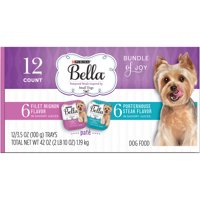 Purina Bella Bundle of Joy With Filet Mignon & Porterhouse Steak Flavors Adult Wet Dog Food Variety Pack - (12) 3.5 oz. Trays