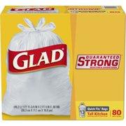 Glad Quick-Tie Tall Kitchen Trash Bags - 13 Gallon - 80 ct
