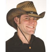 d0aaf38b1e6e4a Cowboy Straw Vented Wild West Western Hat Kenny Chesney Adult Costume  Accessory