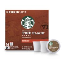 Starbucks Pike Place Roast Medium Roast Single Cup Coffee for Keurig Brewers, 1 Box of 16 (16 Total K-Cup Pods)