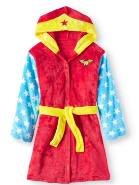 Wonder Woman Girls' Hooded Sleep Robe (Little Girls & Big Girls)