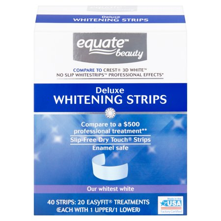 Equate Beauty Deluxe Teeth Whitening Strips, 20-Day