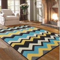Ottomanson Studio Collection Multi-Color Chevron Waves Design Area or Runner Rug