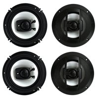 """4) New Boss Riot R63 6.5"""" 600W 3 Way Car Audio Coaxial Speakers Stereo 4 Ohm"""