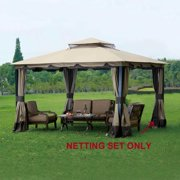 Sunjoy Replacement Mosquito Netting For L Gz215pst 4 10x12 Monterey Gazebo