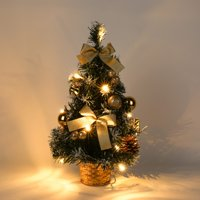 Sweetsmile 40cm Mini Christmas Tree With Light Desk Table Festival Home Party Ornaments Xmas Gifts Christmas Decorations Clearance Sale
