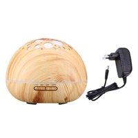 Mini Humidifier,300ML LED Star Ultrasonic Humidifier Ultrasonic Aroma Essential Oil Diffuser for Office Home Bedroom Living Room Study Yoga Spa - Wood Grain