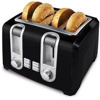 BLACK+DECKER 4-Slice Toaster, Extra Lift, Black, T4560B