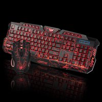 New Fashion LED Gaming Wired 2.4G keyboard and Mouse Set to Computer Multimedia Gamer