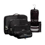 edb001ffbe Travel Packing Cubes   Hanging Toiletry Bag 5pc Set ...