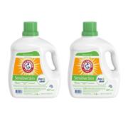 (2 pack) Arm & Hammer Sensitive Skin Free & Clear Liquid Laundry Detergent, 160.5 fl oz
